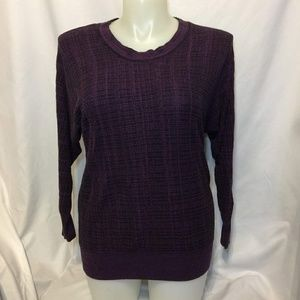 Lame Bryant Thin Plaid Sweater